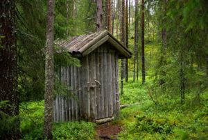 Puucee, wooden WC in Finland